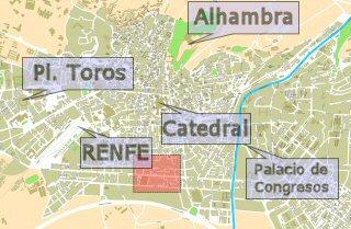 Situación del Camino de Ronda en Granada Capital
