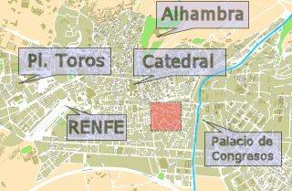Situaci�n de San Ant�n en Granada Capital
