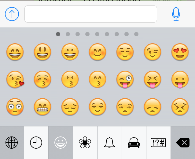 Emoticonos en WhatsApp para iPhone
