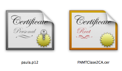Certificados digitales en iPhone
