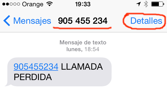 Estafa de la llamada perdida o iPhone de regalo